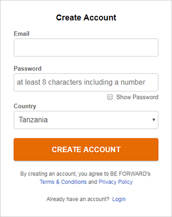Enter E-Mail address and password