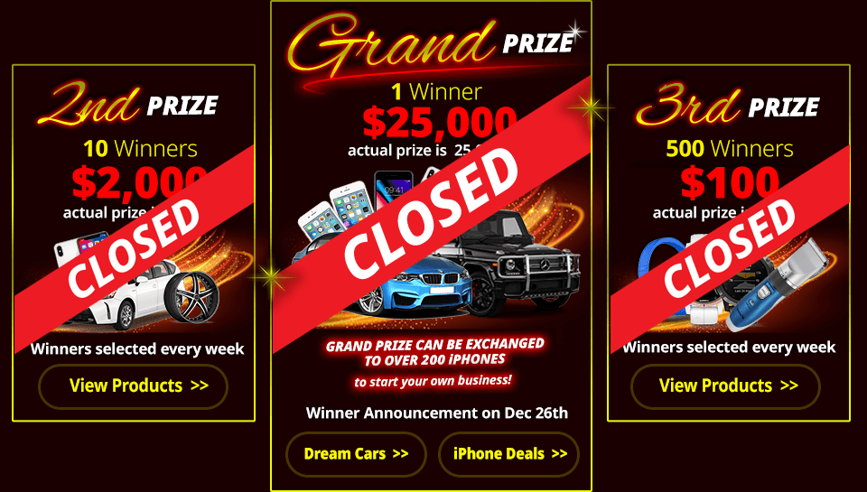Grand Prize has ended