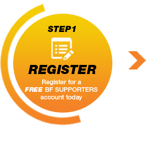 STEP1 REGISTER Register for a FREE BF SUPPORTERS account today