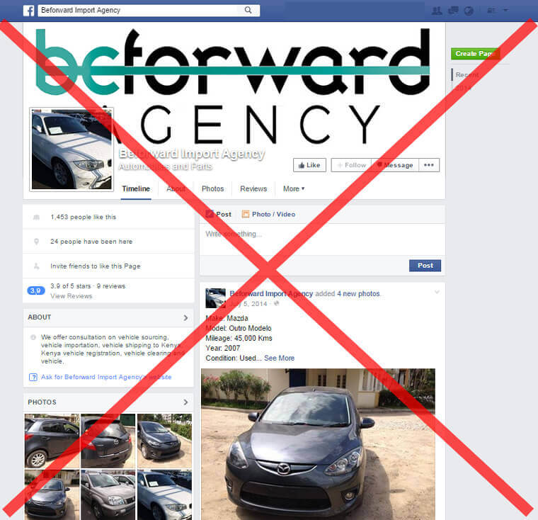 Fake Be Forward Facebook
