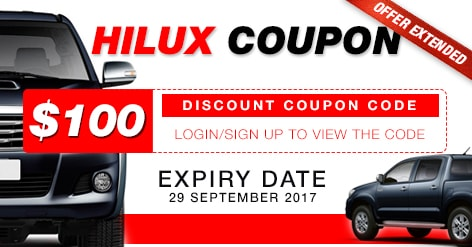 Hilux Coupon