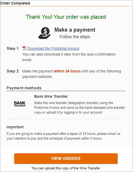 Step 3.Make Payment