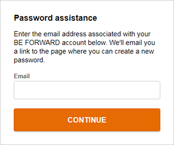 Enter E-Mail address