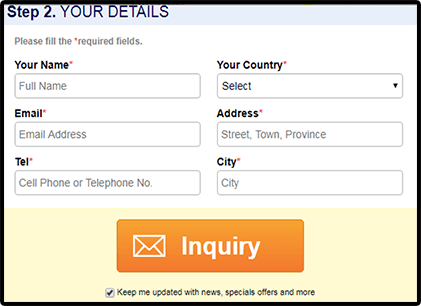 Without Login - You have to fill in the form each time when you request a quotation.