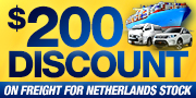 $200 discount on freight for Netherlands stock