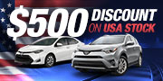 $500 Discount on USA Stock